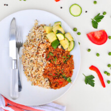 Large Lean Beef Mince/Brown Rice & Quinoa/Zucchini